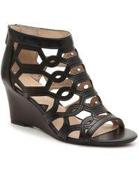 244c17cbf5 Lucky Brand Kakina Wedge Sandal in Black - Lyst
