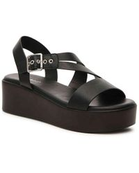 462e84f2633 Lyst - Bamboo Bonus Wedge Sandal in Brown