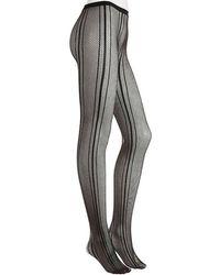 Nine West - Fishnet Stripe Tights - Lyst