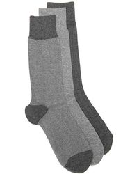 Cole Haan - Nailhead Ribbed Crew Socks - Lyst