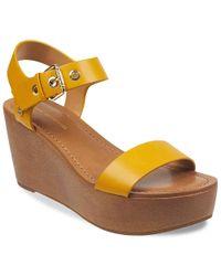 936ec5372c1c7 Lyst - Tommy Hilfiger Yavino Espadrille Platform Wedge Sandals in ...