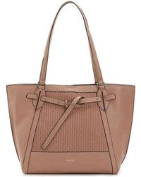 Perlina - Shine Ii Leather Tote - Lyst