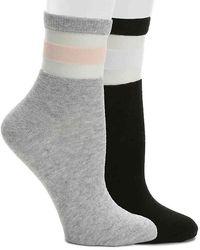 ALDO - Mesh Stripe Ankle Socks - Lyst