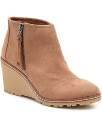 aecde62f3be7 TOMS - Avery Wedge Bootie - Lyst