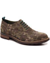 Snobs - Charlie Camouflage Wingtip Oxford - Lyst