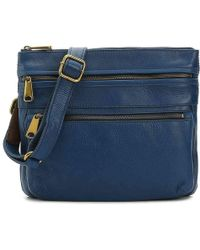 Fossil - Voyager Leather Crossbody Bag - Lyst