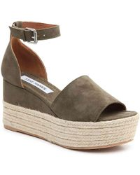a8ad5033fc4 Lyst - Steve Madden Apolo Espadrille Wedge Sandal in Black