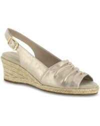 Easy Street - Kindly Espadrille Wedge Sandal - Lyst