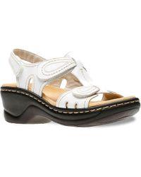 Clarks - Lexi Walnut Wedge Sandal - Lyst