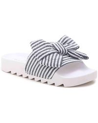 Not Rated - Hideaway Bow Slide Sandal - Lyst