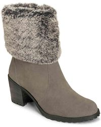 Aerosoles - Incognito Suede Faux Fur Cuff Ankle Boots - Lyst