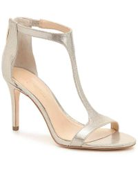 8ab5accce58 Lyst - Vince Camuto Imagine Phoebe – Embellished T-strap Sandal in White