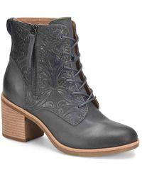 8a3bf56ed057c Lyst - Sam Edelman Sondra Leather Booties in Black