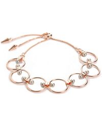 Rebecca Minkoff - Encircled Floating Faux Pearl Bracelet - Lyst