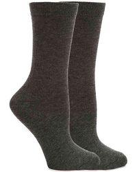 Anne Klein - Bamboo Flat Knit Crew Sock - Lyst
