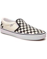 1fb4ff00d43bb1 Vans - Asher Checkered Slip-on Sneaker - Lyst