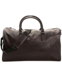 Kenneth Cole Reaction - I'm Duffed Leather Weekender Bag - Lyst