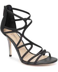 9a28821ca1e Lyst - Imagine Vince Camuto Ranee Glitter Strappy Sandals in Black