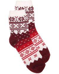 Sof Sole - Fireside Fair Isle Ankle Socks - Lyst