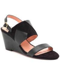 da40f2850179 Lyst - Naturalizer Carena Wedge Slide Sandals in Black