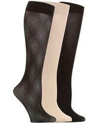Anne Klein - Textured Trouser Socks - Lyst