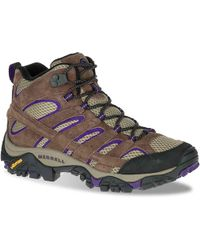 Merrell - Moab 2 Vent Mid (bracken/purple) Women's Shoes - Lyst