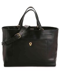 99f93d939c81 Lyst - Cole Haan Palermo Large Leather Work Tote in Black