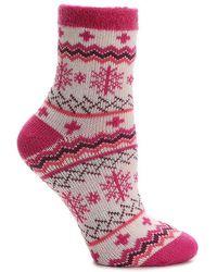 Sof Sole - Nordic Snowflake Slipper Socks - Lyst