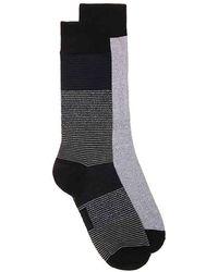 Frye - Tonal Stripe Crew Socks - Lyst