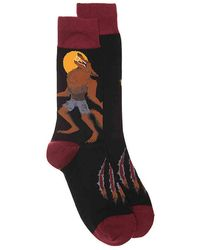 Socksmith - Howling At The Moon Crew Socks - Lyst