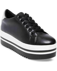 4fc5bc2045c Lyst - Steve Madden Cloud Sock Wedge Sneaker in Black