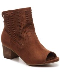 Not Rated - Saavy Western Bootie - Lyst