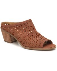 1a22bbe0193 Lyst - Lucky Brand Wedge Platform Sandals Rilo Crochet in Natural
