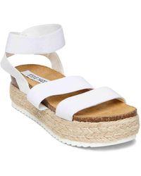 8a3df2e2945 Lyst - Steve Madden Kimmie Flatform Espadrille Sandals in White
