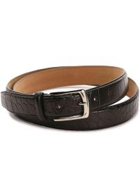 Cole Haan - Croco Leather Belt - Lyst