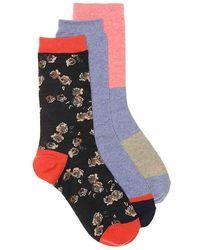 Lucky Brand - Roses Crew Socks - Lyst