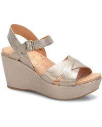 7d00eaa2483 Lyst - Avec Les Filles Ava Leather Platform Sandals
