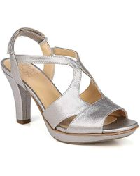 72c0d752c00 Lyst - Naturalizer Reva Suede Mary Jane Pumps in Gray