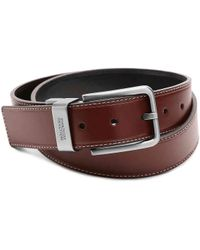 Kenneth Cole Reaction - Oiled Leather Belt - Lyst