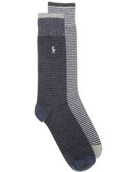 Polo Ralph Lauren - Striped Crew Socks - Lyst