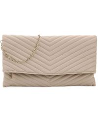 Urban Expressions - Chevron Quilted Clutch - Lyst