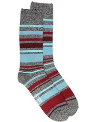 Memoi - Plaid Ankle Socks - Lyst