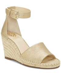 d98026fc8f9 Vince Camuto Totsi Espadrille Wedge Sandals in Natural - Lyst