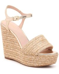 1c6123208bb Lyst - ALDO Aralinna Wedge Sandal in Natural