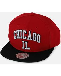 4869849d828 Lyst - Mitchell   Ness Chicago Bulls Rainy Day Pinch Strapback Hat ...