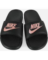 760da85efe479 Lyst - Nike Benassi Print Slides in Black