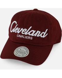 189e5ef9d47 Mitchell   Ness - Nba Cleveland Cavaliers Script Strapback Dad Hat - Lyst