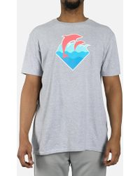 Pink Dolphin - Wave Puff Print Tee - Lyst