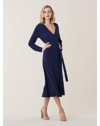 Diane von Furstenberg - Tilly Crepon Midi Wrap Dress - Lyst