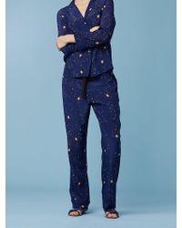 Diane von Furstenberg - Wide Leg Zodiac Pyjama Pant - Lyst